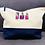 Thumbnail: Make-Up/Wash Bag with embroidered Nail Varnish Bottles