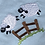 Thumbnail: Light weight Baby blanket - cow and sheep design