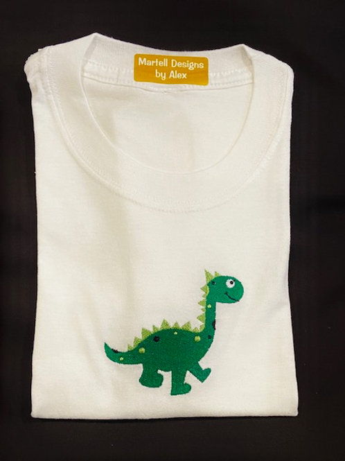 Green Dino short sleeve T-shirt