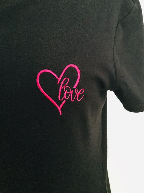 "Pink ""Love""  Heart T-shirt"