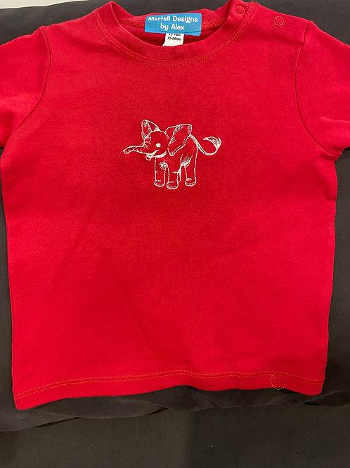 Long Sleeve Elephant OutlineT-shirt Baby
