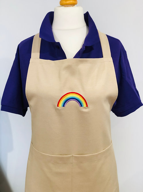 All the Colours of the Rainbow embroidered Apron