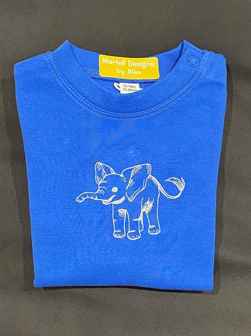 Elephant Outline short sleeve t-shirt