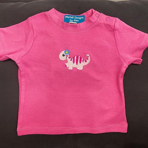 Short Sleeve Little Miss Dino T-Shirt
