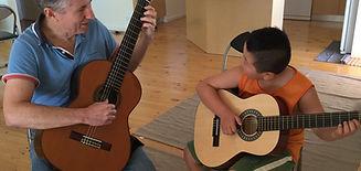 Classical guitar lesson