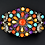 Thumbnail: Navajo Style Sterling Silver Multicolor Cluster Cuff Bracelet