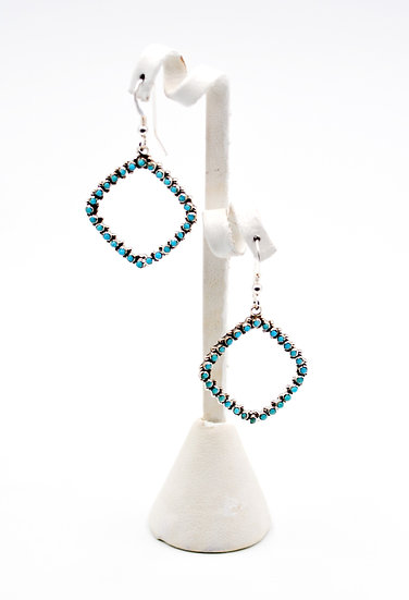 Petit Turquoise Sterling Silver Earrings