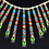 Thumbnail: Micro Inlay Multicolor Stone Sterling Necklaces