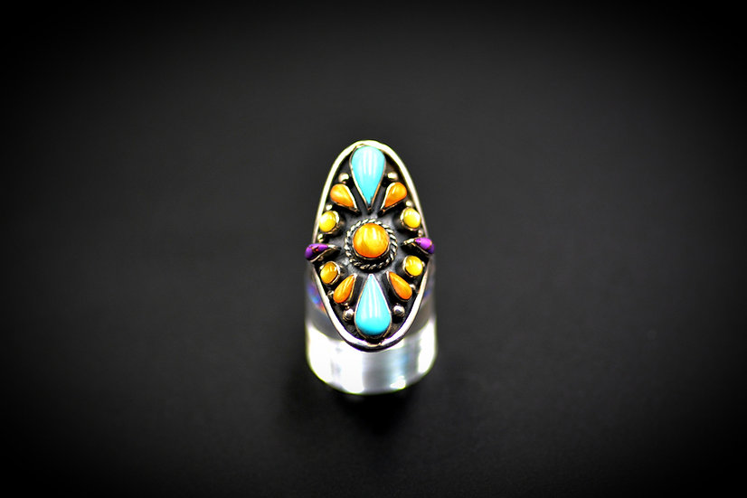 Sterling Silver Multicolor Ring PH