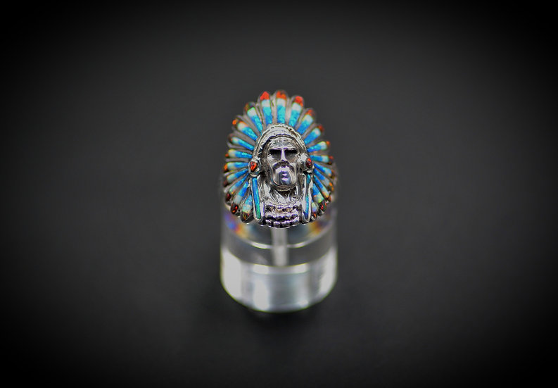 Headdress Native American Native Ring