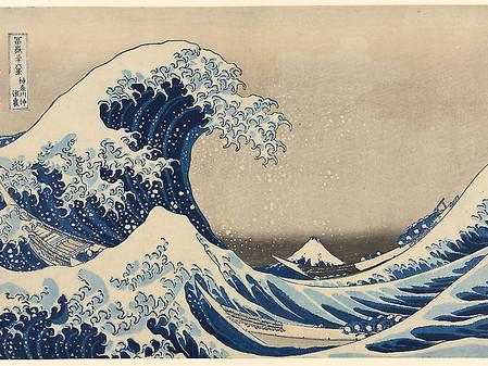 הוֹקוּסָאי וגל ההדפסים היפניים 葛飾北斎
