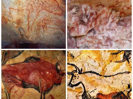 ציורי מערות וציור על אבנים