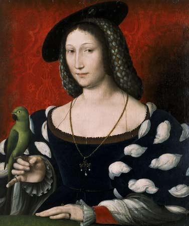 Jean Clouet Portrait of Marguerite d'Angoulême (1492-1549
