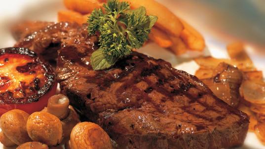Steak grillé