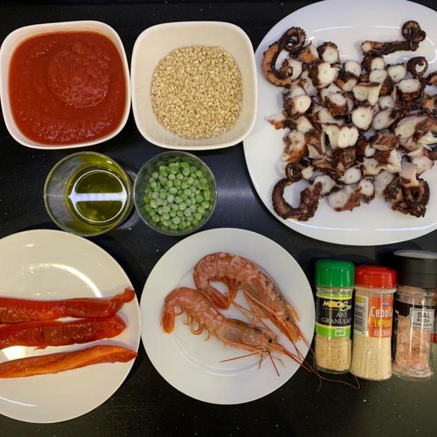Ingredientes para tu paella fitness