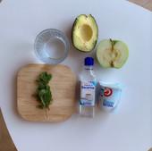 Ingredientes para el smoothie verde