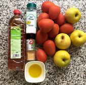 Ingredientes de este salmorejo de manzana