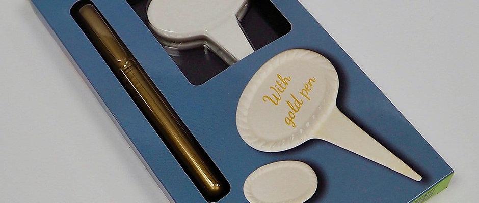 Porcelain multipurpose food marker set