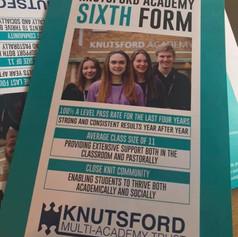 Knutsford Academy Folded Leaflets