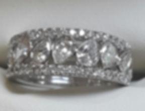 Pearshape eternity & Emerald cut engagement ring