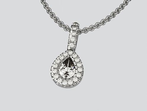 Platinum Pearshaped pendant