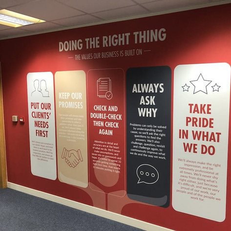 Back Office Wall Graphics