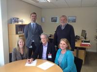 HC Parish Council & Sanofi Contract Sign
