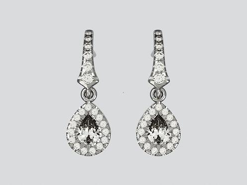 Platinum Pearshaped earrings