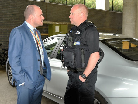 Police commissioner joins officers on operation to catch drivers using a mobile phone