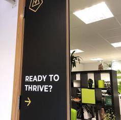 Thirve Office Door Graphic