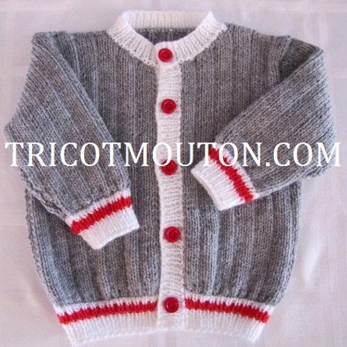 Kit de laine - Veste pour bébé ''Collection du Pays'' #VBBK-01