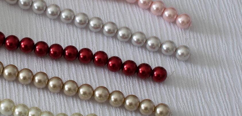 Perles en verre pour artisanat - 10mm