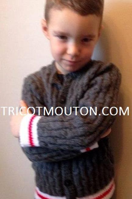 Kit de laine -  Veste pour garçon ''Collection du Pays'' #VEK-01