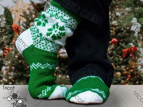 Kit de laine - Chaussons de Noël pour lui #BH-05