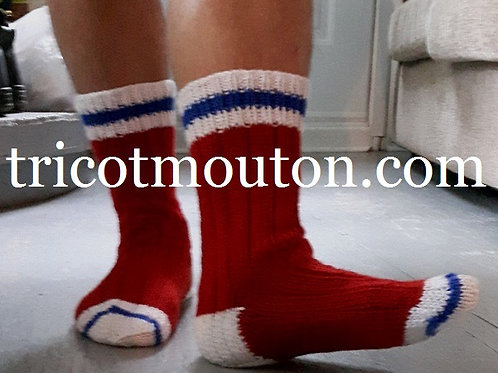Patron - Chaussons pour homme inspiration hockey BH-01