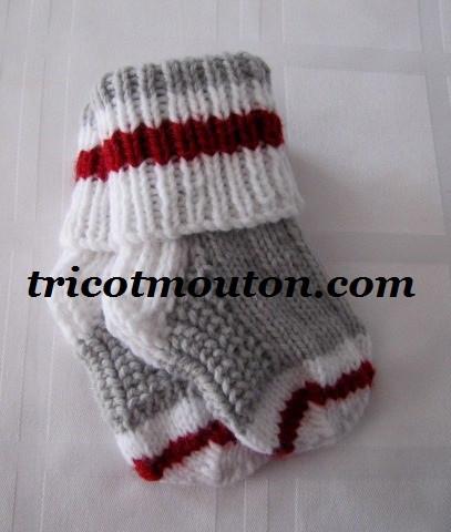 Bas pour bébé au tricot