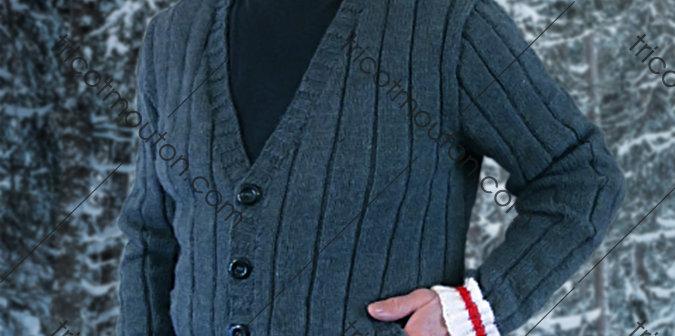 Kit de laine - Veste pour homme ''Collection du Pays'' #VHK-01