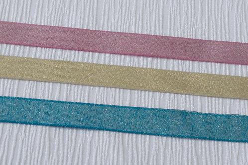 Ruban Luxe 5/8'' (15mm)  (choix de 3 couleurs)