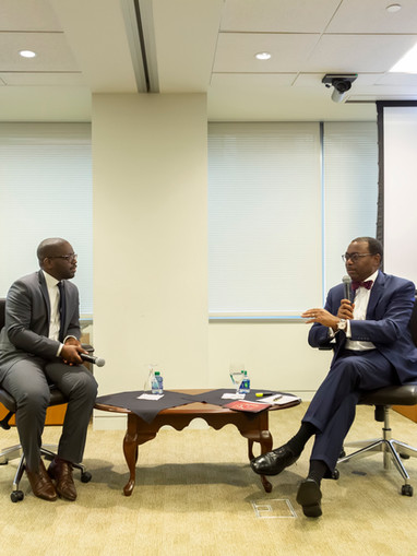 Thierry Dongala discussing importance of AfDB Capital increase among U.S policy makers and Investors