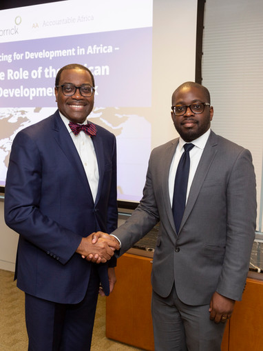 AfDB President and Thierry Dongala