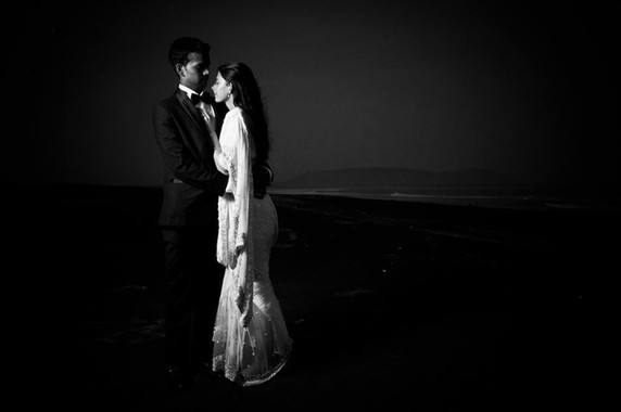post wedding low key on the beach