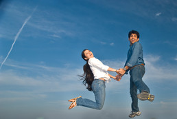 prewedding-india-blue-sky