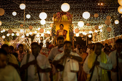 bride being carried in a palanquin