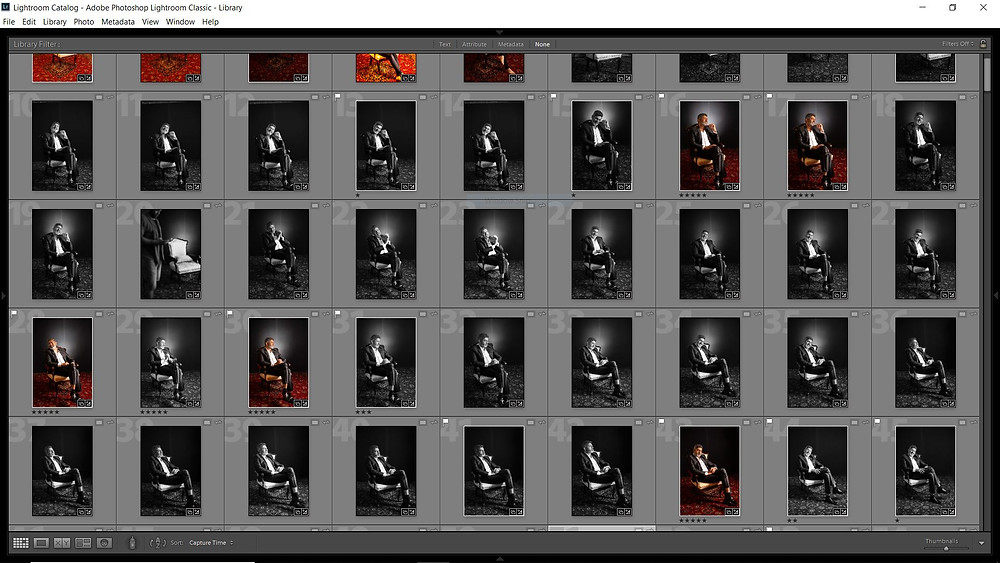 contact sheet of celebrity shoot