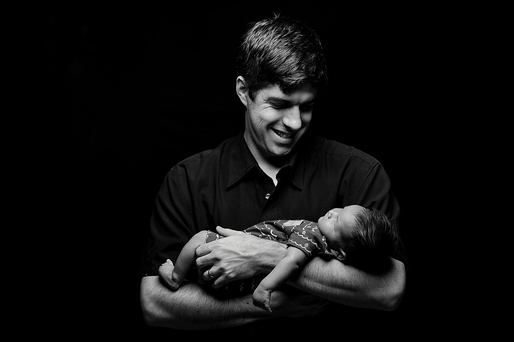 father and baby portrait photography