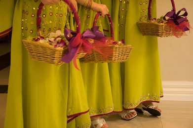flower bearers at the wedding