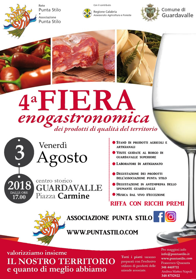 The Association Punta Stilo organizes the 4th food and wine fair