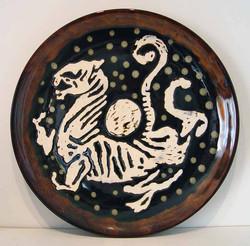 Japanese Bizen Wall Plate