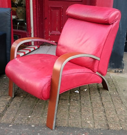 Aluminium & Hide Chair
