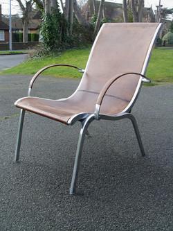 Aluminium and Hide Chairs